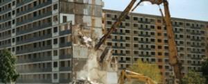 Abbriss der Wohnblocks